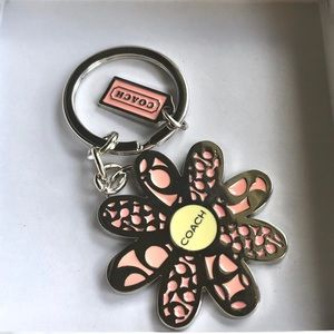 Coach Giant Flower Keychain Charm